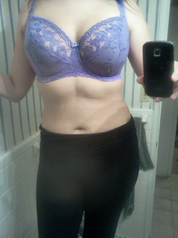 What I wore underneath: Kris Line Jasmine, balconette bra with a high-ish center gore